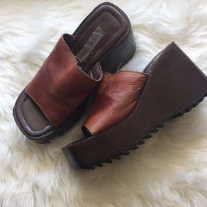 Vintage hippie 90s Steve Madden platform shoes 7.5